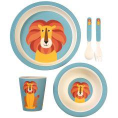 Coffret repas en bambou Charlie le lion (5 pièces)