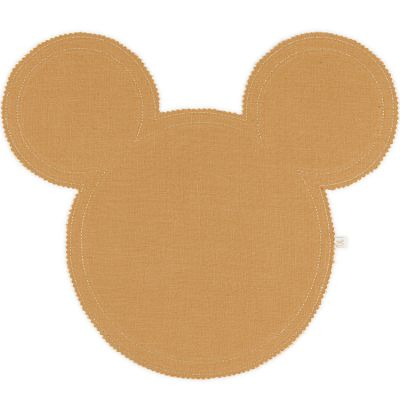 Set de table Mickey en lin caramel et doré Cotton&Sweets