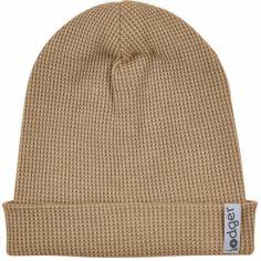 Bonnet de naissance en coton Ciumbelle Honey marron (0-6 mois)