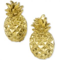 Lot de 2 marque-places en résine ananas Jungle Fever