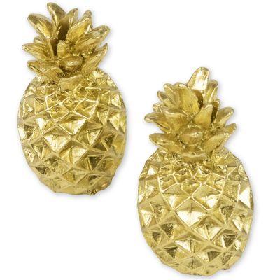 Lot de 2 marque-places en résine ananas Jungle Fever  par Arty Fêtes Factory
