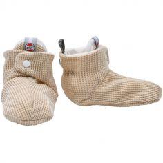 Chaussons en coton Ciumbelle Ivoire (0-3 mois)