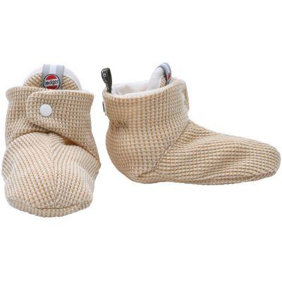 Chaussons en coton Ciumbelle Ivoire (0-3 mois)  par Lodger