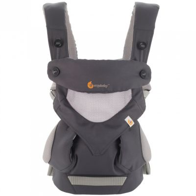 Porte bébé 360° Cool Air Mesh gris foncé (4 positions) Ergobaby