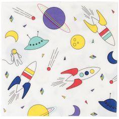 Lot de 8 serviettes en papier Cosmic
