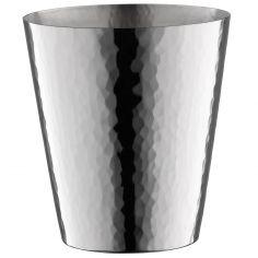 Timbale Martelé en métal argenté personnalisable (8,9 cm)