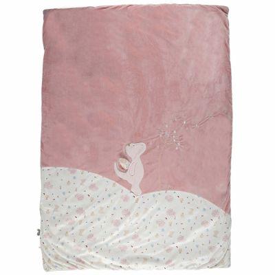 Couverture bébé en veloudoux Lina & Joy (100 x 140 cm)  par Noukie's