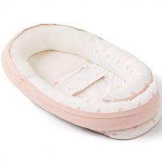 Réducteur de lit en coton bio Cocoon doomoo rose