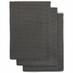 Lot de 3 gants gris anthracite