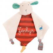 Doudou plat mouton Les Zig et Zag personnalisable (30 cm) - Moulin Roty