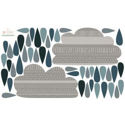 Stickers nuage de pluie Rain clouds Love Maé