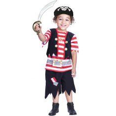 Déguisement de pirate rouge (6-8 ans)