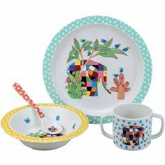 Coffret repas enfant Elmer (4 pièces)