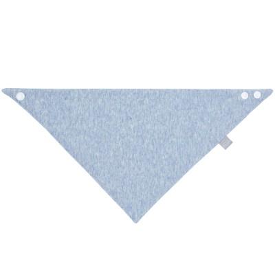 Bavoir bandana chiné bleu  par Lässig