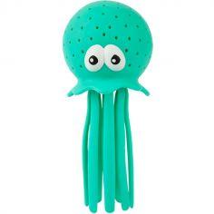 Arroseur de bain pieuvre neon turquoise
