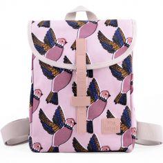 Mini sac à dos de randonnée Mini Trek oiseau Pink birds