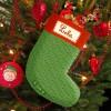 Chaussette de Noël vintage verte (personnalisable)  par Les Griottes