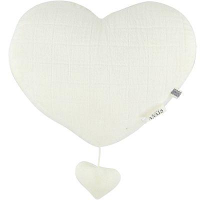 Coeur musical à suspendre Bliss blanc  par Les Rêves d'Anaïs