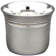 Coquetier évasé Filets personnalisable (métal argenté)