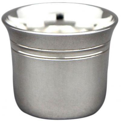 Coquetier évasé Filets personnalisable (métal argenté)  par Aubry-Cadoret