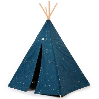 Tente tipi Phoenix Gold stella Night blue  par Nobodinoz