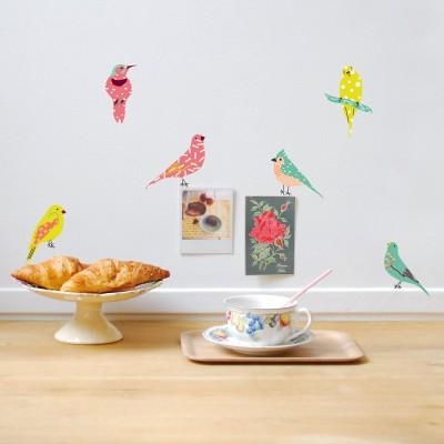 Stickers Colonie d'oiseaux  par Mimi'lou