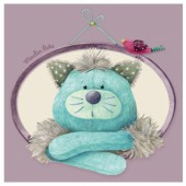 Tableau chat Gros Chacha Les Pachats (20 x 20 cm) - Moulin Roty