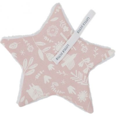 Doudou attache sucette Adventure pink (15 x 15 cm) Little Dutch