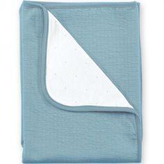 Couverture réversible Cadum bleu minéral (75 x 100 cm)