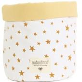 Panier de toilette Mambo Etoile jaune moutarde (25 x 26 cm) - Nobodinoz