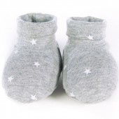 Chaussons de naissance Gaby gris - Walking Mum