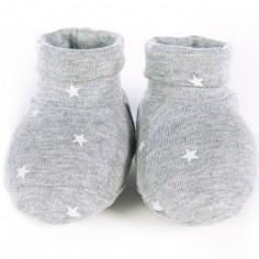 Chaussons de naissance Gaby gris