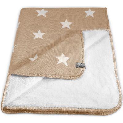 Couverture Star Soft beige et blanc (100 x 130 cm)  par Baby's Only