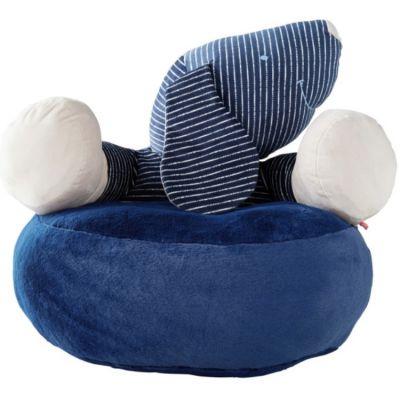 Pouf Jack en veloudoux Aston & Jack chien bleu  par Noukie's