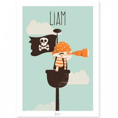Affiche A4 Les Pirates La vigie (personnalisable)  par Kanzilue