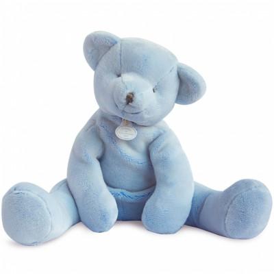 Peluche ours bleu (35 cm) Doudou et Compagnie