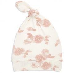 Bonnet de naissance en maille rosettes (0-3 mois)