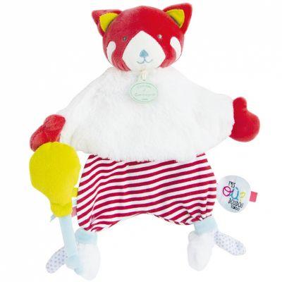 Doudou plat Tatoo renard et ballon (25 cm) Doudou et Compagnie