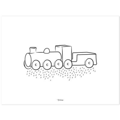 Affiche la locomotive (30 x 40 cm)  par Lilipinso