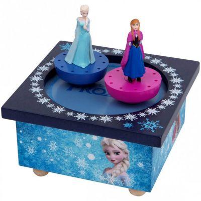 Boîte à Musique magnétique Elsa et Anna La Reine des Neiges  par Trousselier