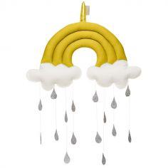 Mobile décoratif arc-en-ciel moutarde
