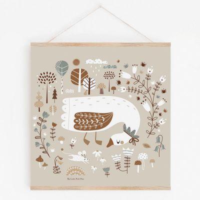 Affiche Magic garden avec support (29,7 x 29,7 cm)  par Lutin Petit Pois