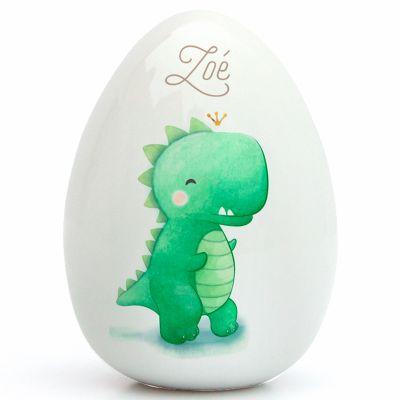 Oeuf en porcelaine Dinosaure (personnalisable)  par Gaëlle Duval