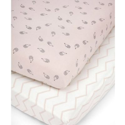 Lot de 2 draps housses hérisson rose (70 x 140 cm)  par Mamas and Papas
