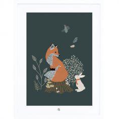 Affiche encadrée M.Fox renard (30 x 40 cm)