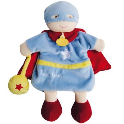 Marionnette à main conte super héros Doudou et Compagnie