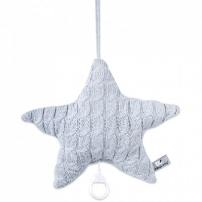 Coussin musical étoile Cable Uni gris (30 cm) Baby's Only