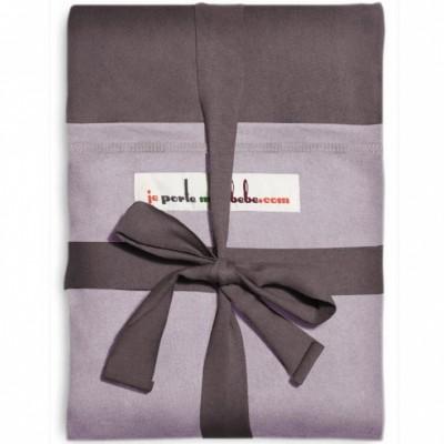 Echarpe de portage L'Originale marron glacé poche lavande  par Je Porte Mon Bébé / Love Radius