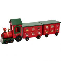 Calendrier de l'Avent réutilisable train en bois