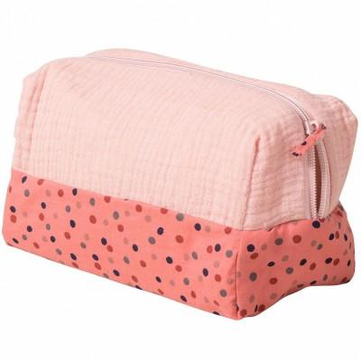 Trousse de toilette rose Les jolis trop beaux  par Moulin Roty